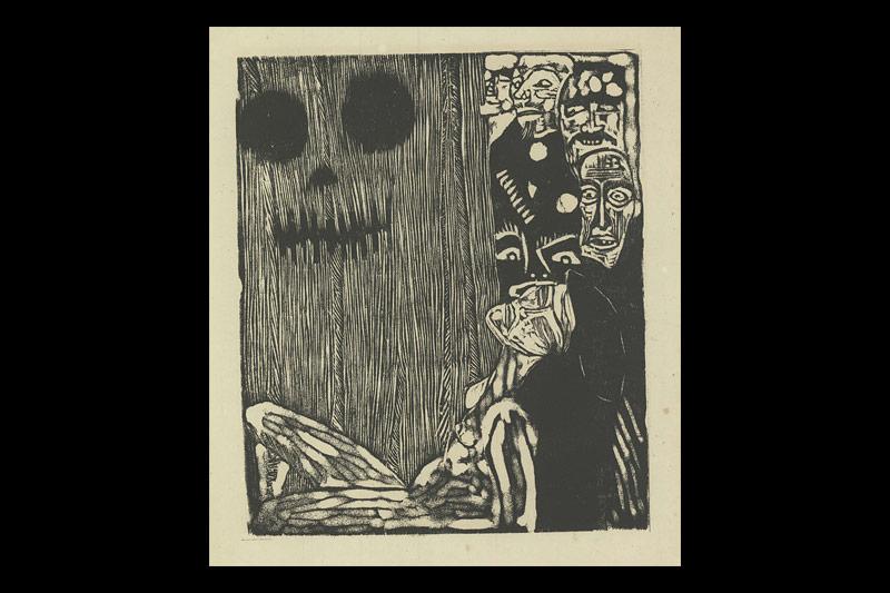 Margarete Hamerschlag: Illustration zu Die Maske des Roten Todes
