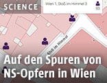"""Benutzeroberfläche von """"Memento Wien"""""""