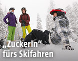 Jugendliche beim Skifahren
