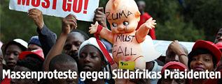 Proteste gegen den südafrikanischen Präsidenten Jacob Zuma