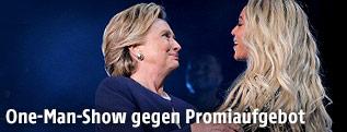 Hilary Clinton und Sängerin Beyonce