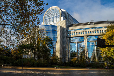 Blick auf das EU-Parlament in Brüssel