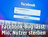 Facebook- Bildschirm