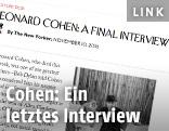 Screenshot der Seite mit Cohens letztem Interwiev auf www.newyorker.com