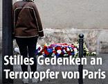 """Eine Trauernde bei """"Le Petit Cambodge"""""""
