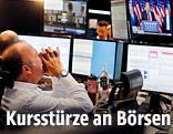 Broker an Börse in Frankfurt