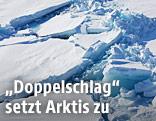 Aufgebrochene Eisschollen