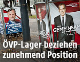 Wahlplakate zeigen Van der Bellen und Hofer