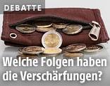 Münzen in einer Geldbörse