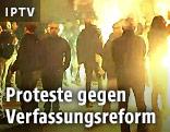 Demonstranten auf der Straße