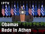 Obama hält eine Rede