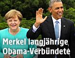 Angela Merkel (deutsche Kanzlerin) und Barack Obama (US-Präsident)
