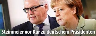 Frank-Walter Steinmeier und Angela Merkel