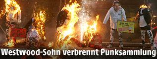 Brennde Punk-Figuren