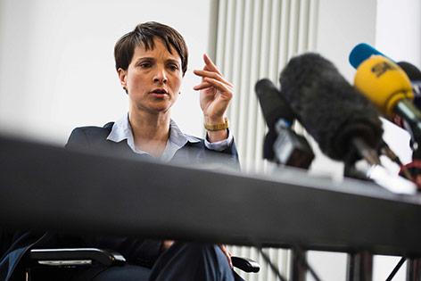 Die deutsche Rechtspopulistin Frauke Petry