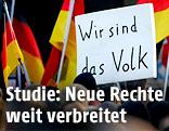 """""""Wir sind das Volk""""-Schild bei einer Demo"""