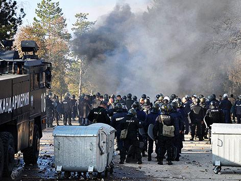Ausschreitungen in Bulgarien