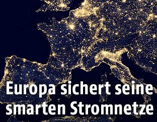 Satellitenbild von Europa bei Nacht