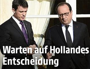 Manuel Valls und Francois Hollande