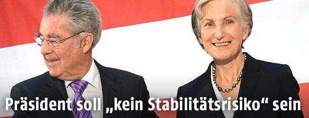 Alt-Bundespräsident Heinz Fischer und Irmgard Griss