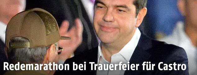 Raul Castro und Alexis Tsipras