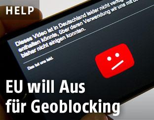 Blockiertes Video auf einem Smartphone