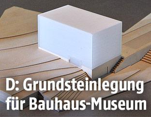 Modell des neuen Bauhaus-Museums in Weimar