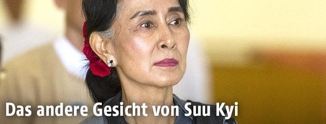 Regierungschefin von Myanmar und Friedensnobelpreisträgerin Aung San Suu Kyi