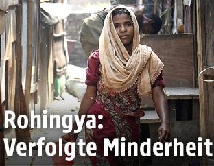 Weiblicher Rohingya Flüchtling