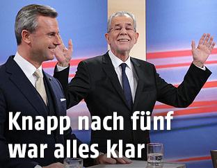 Norbert Hofer und Alexander Van der Bellen
