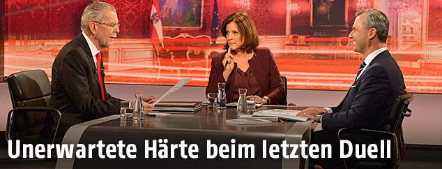 Diskussion der Präsidentschaftskandidaten Norbert Hofer und Alexander Van der Bellen im ORF