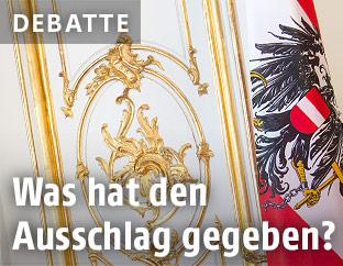 Österreichische Fahne in der Hofburg