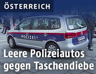 Polizeiauto am Wiener Graben