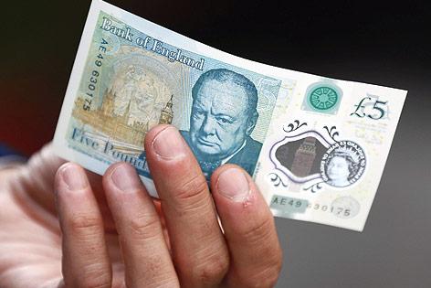 Neue britische Fünf-Pfund-Banknote