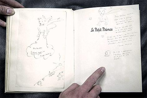 """Exemplar der Originalausgabe des Erfolgsbuches """"Der kleine Prinz"""" von Antoine Saint-Exupery"""