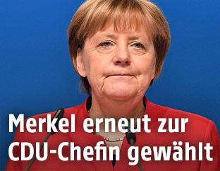 Die deutsche Kanzlerin Angela Merkel am CDU-Parteitag