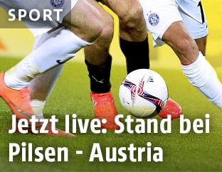 Szene aus dem Match Pilsen gegen Austria
