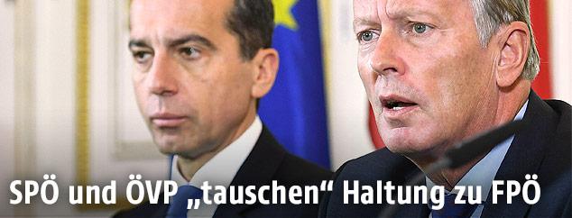 Bundeskanzler Christian Kern und Vize Reinhold Mitterlehner