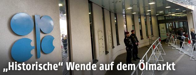 Bewachter Eingang zum OPEC-Gebäude