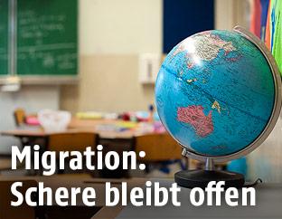 Globus in einer Schulklasse