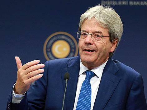 Italienischer Außenminister Paolo Gentiloni