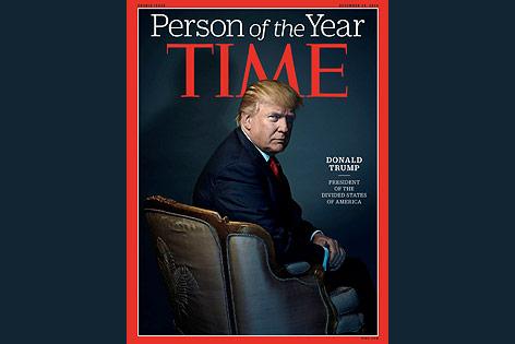Donald Trump ist Person des Jahres des Time Magazine