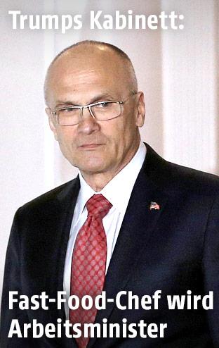 Neuer US-Arbeitsminister Andy Puzder