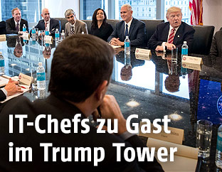 Donald Trump und Tech CEO's