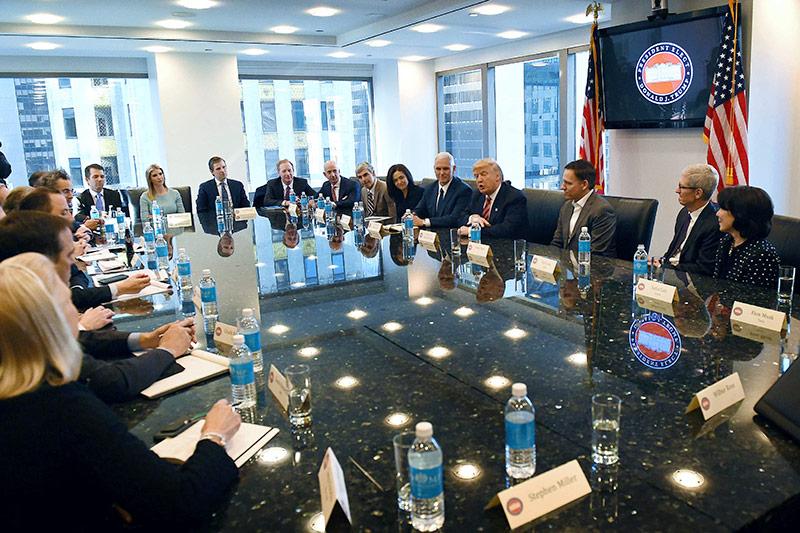 Donald Trump und Tech CEO's