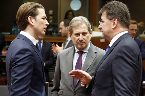 Sebastian Kurz, Johannes Hahn und Miroslav Lajcak
