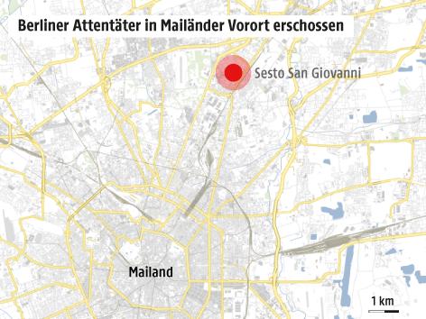 Karte von Mailand und Umgebung