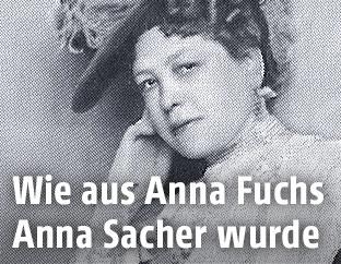Portrait zeigt Anna Sacher, 1908