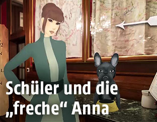 Screenshot zeigt Illustration von Anna Sacher