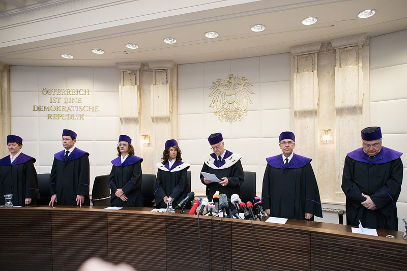 Urteilsverkündung des Verfassungsgerichtshofes zur Anfechtung der Bundespräsidentschaftswahl 2016